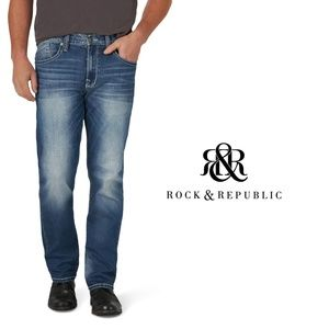 "ROCK & REPUBLIC ""Raw"" Straight Shortened Jeans"